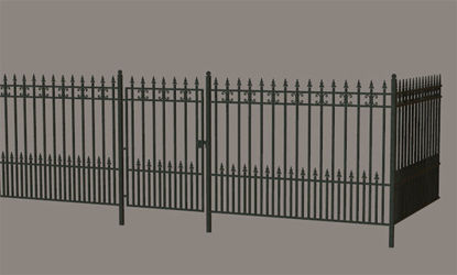 Picture of Modular Wrought Iron Fence Model