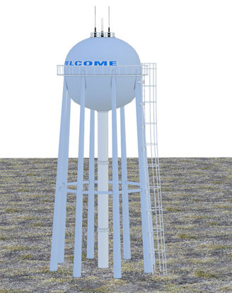 Picture of City Water Tower Model