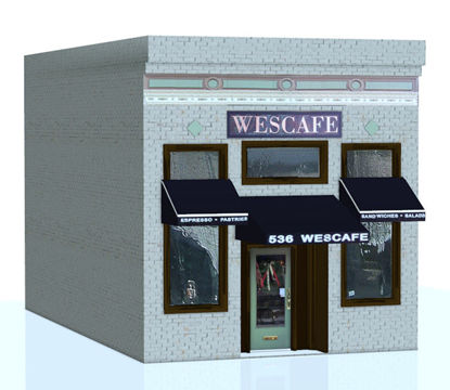 Picture of Coffee Shop Building Facade Model
