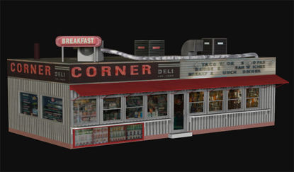 Picture of Corner Deli Building Model -CornerDeli-TextureWindows