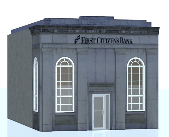 Picture of 1900's Style Bank Building Model