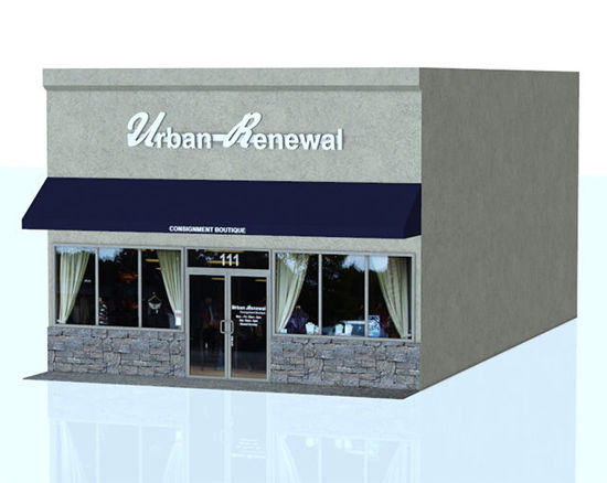 Picture of Retail Store Building Model With Movements