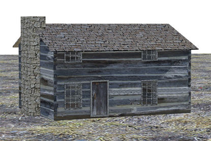 Picture of Early American Log Home Model