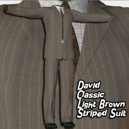 Picture of Light Brown Striped Suit for David