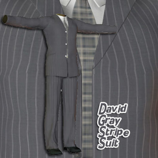 Picture of Gray Stripe Suit for David