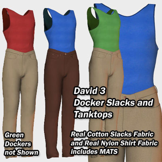 Picture of David Cotton Dockers and Tank-tops