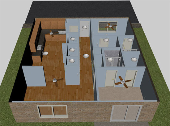 Picture of Modular Single Unit Apartment with Movements for Poser