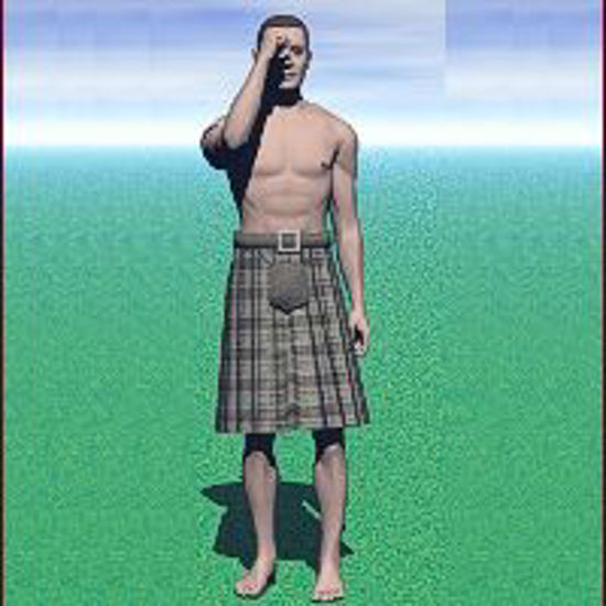 Picture of Kilt, Male Gown, Mistress Fantasy Clothes, Baggy Top - kilt