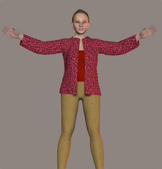 Picture of ODF Antonia WM (weight-mapped) Poser Figure : Antonia-WM_File_1