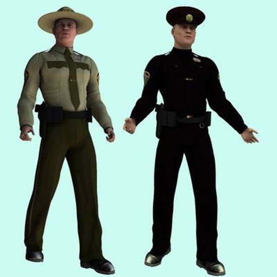 Picture of US Cop for David - Poser / DAZ 3D ( David )