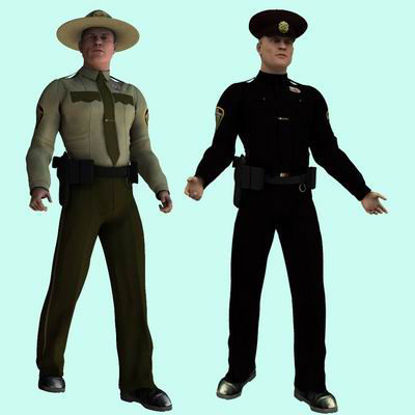 Picture of US Cop for Michael 3 - Poser / DAZ 3D ( M3 )