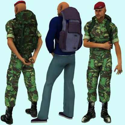 Picture of Rucksack backpack for Michael 3 - Poser / DAZ 3D ( M3 )