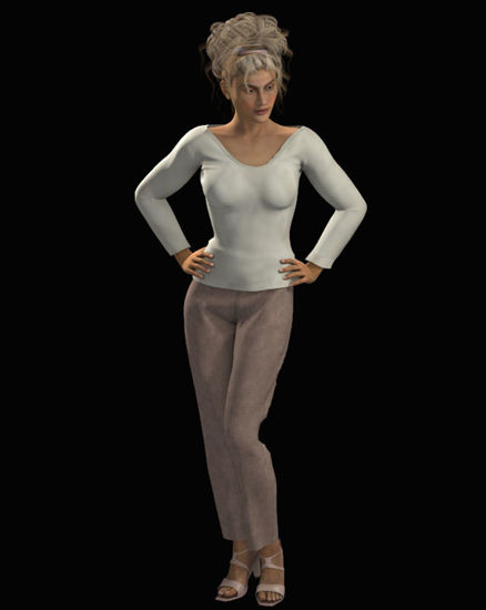 Picture of Dynamic Sweater and Slacks Outfit for Dawn