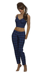 Dynamic Plaid Pajamas for Dawn