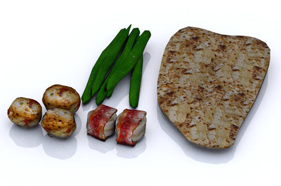 Picture of Grilled Seafood and Vegetable Food Props
