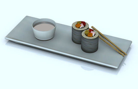 Picture of Sushi and Place Setting Food Props