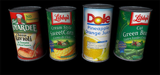 Picture of Canned Goods Food Models Set 1