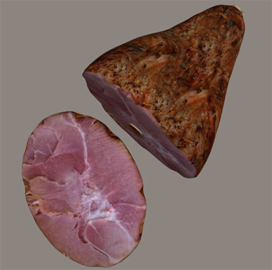 Picture of Holiday Ham and Ham Slice Food Models