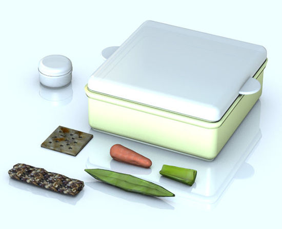Picture of Healthy Foods and Plastic Containers Prop Set