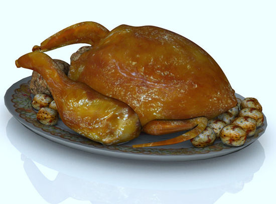 Picture of Holiday Turkey and Trimmings Model