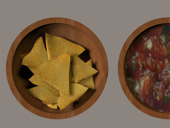 Picture of Tortilla Chips and Salsa Food Models