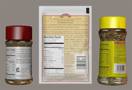 Picture of Three Seasoning Condiment Food Models