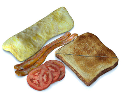 Picture of Breakfast Food Models Set 3 - Poser and DAZ Studio Format