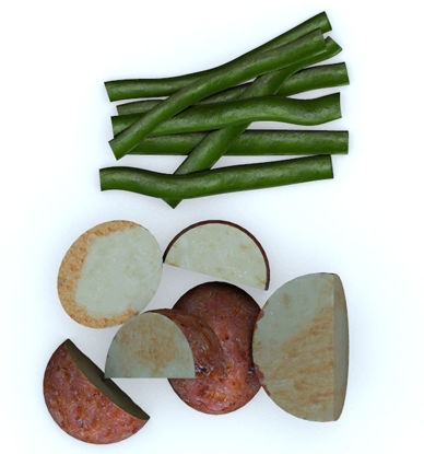 Picture of Vegetable Sides Food Models Set 1 - Poser and DAZ Studio Format