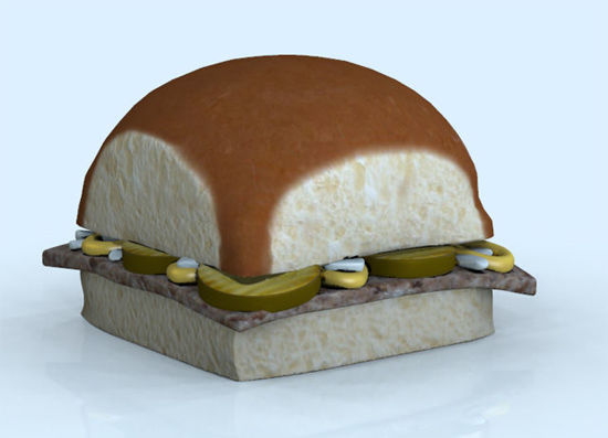 Picture of Little Slider Hamburger Model