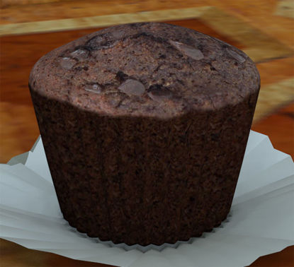 Picture of Chocolate Muffin Food Model with Wrapper Morphs