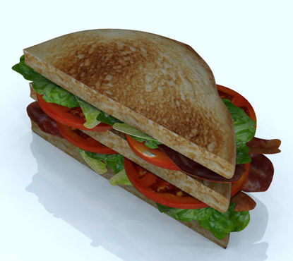 Picture of Double Decker BLT Sandwich and Extra Food Item Models