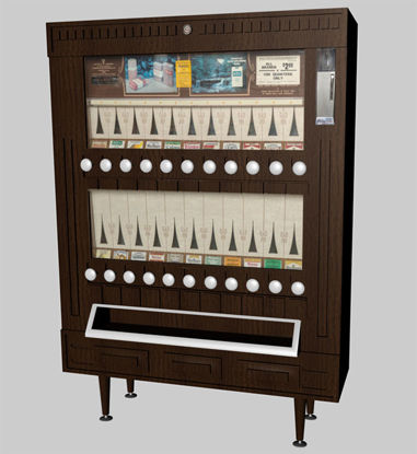 Picture of 70's Era Vintage Cigarette Vending Machine