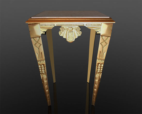 Picture of Gilded Gold Art Deco Table Model