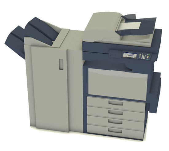 Picture of Office Copier Model with Paper Morph - Poser and DAZ Studio Format