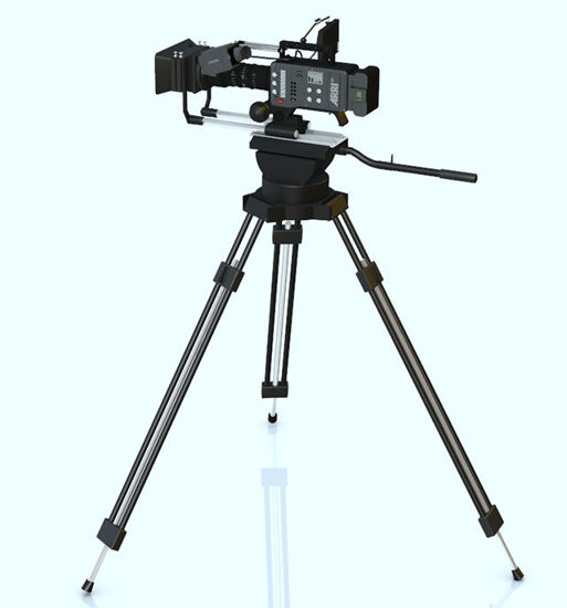 Picture of Movie Camera and Tripod Model with Movements - Poser and DAZ Studio Format
