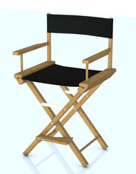 Movie Director's Chair Model - Poser and DAZ Studio Format