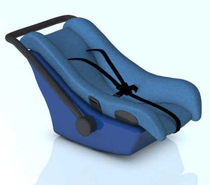 Picture of Child Car Seat / Carrier - Poser and DAZ Studio Format