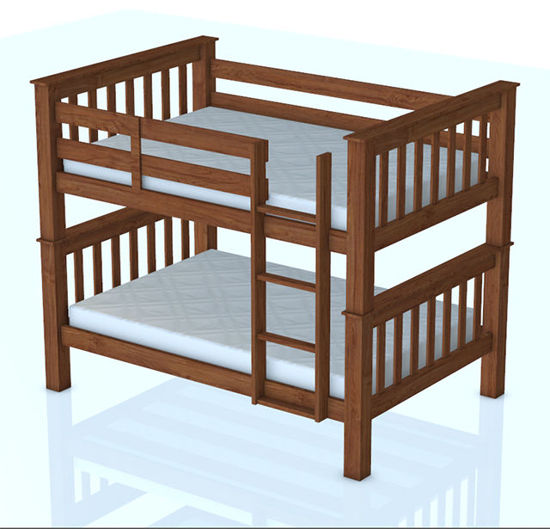 Picture of Bunk Bed Model - Poser and DAZ Studio Format