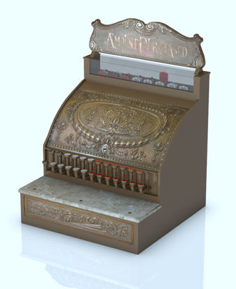 Picture of 1800's Cash Register Model with 51+ Movements