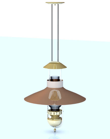 Picture of Saloon Oil Lamp Ceiling Fixture Model - Poser / DAZ Format - SaloonCeilingLamp