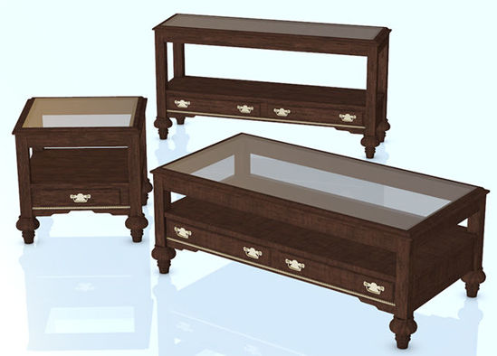 Picture of Glass Top Fine Furniture Models - Poser and DAZ Studio Format