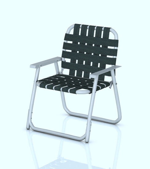 Picture of Vintage Webbed Lawn Chair Model