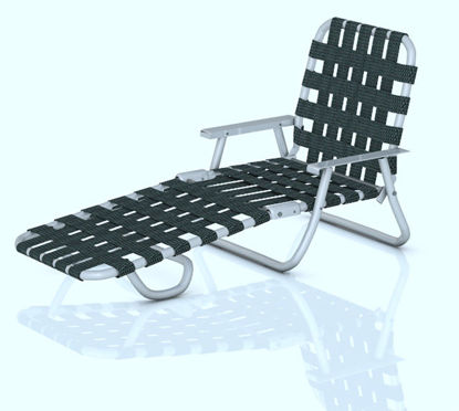 Picture of Vintage Webbed Lounge Chair Model