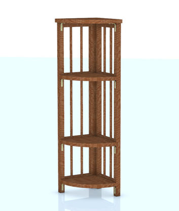 Picture of Wooden Corner Shelf Furniture Model