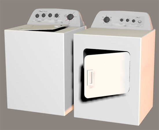 Picture of Washer and Dryer Models with Movements