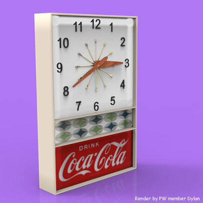 Picture of Vintage Wall Clock Model with Movement
