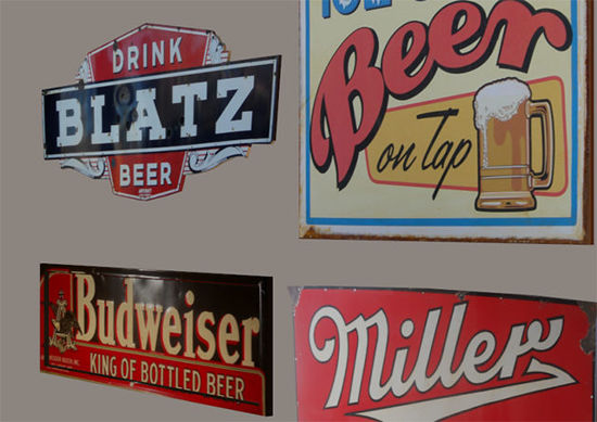 Picture of Vintage Metal Bar Sign Models