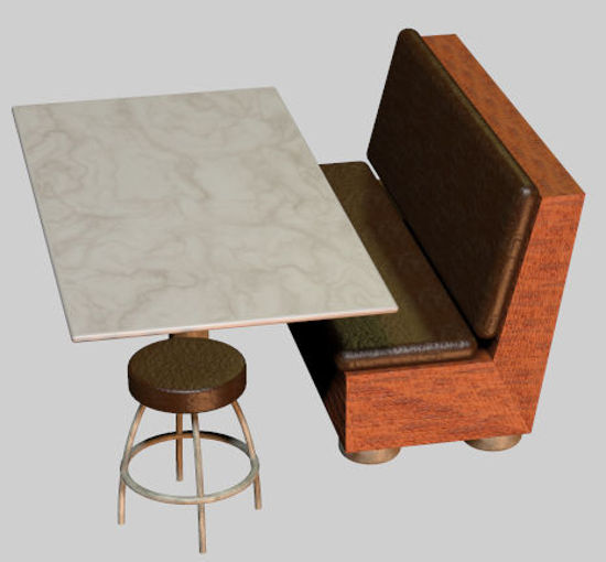 Picture of Upscale Diner Furniture Prop Set