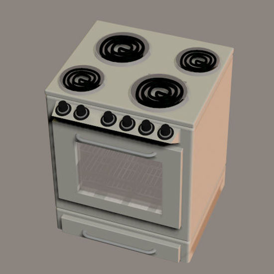 Picture of Stove and Oven Combo Prop