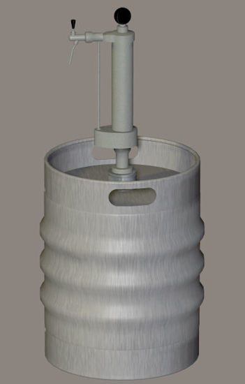 Picture of Beer Keg and Tap Model